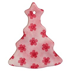 Watercolor Flower Patterns Christmas Tree Ornament (two Sides) by TastefulDesigns