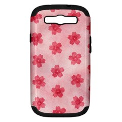 Watercolor Flower Patterns Samsung Galaxy S Iii Hardshell Case (pc+silicone) by TastefulDesigns