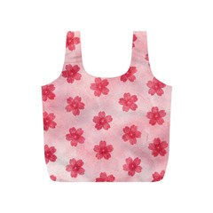 Watercolor Flower Patterns Full Print Recycle Bags (s)  by TastefulDesigns