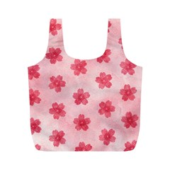 Watercolor Flower Patterns Full Print Recycle Bags (m)  by TastefulDesigns