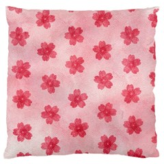 Watercolor Flower Patterns Large Flano Cushion Case (two Sides) by TastefulDesigns