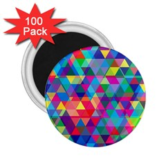 Colorful Abstract Triangle Shapes Background 2 25  Magnets (100 Pack)  by TastefulDesigns