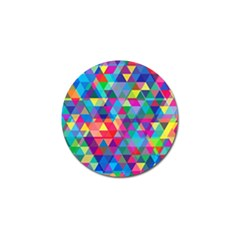 Colorful Abstract Triangle Shapes Background Golf Ball Marker by TastefulDesigns