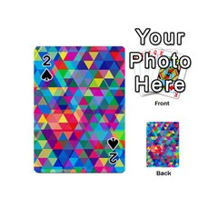 Colorful Abstract Triangle Shapes Background Playing Cards 54 (mini)  by TastefulDesigns