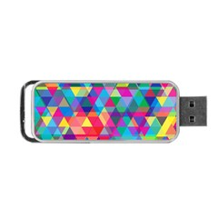 Colorful Abstract Triangle Shapes Background Portable Usb Flash (one Side) by TastefulDesigns