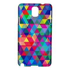 Colorful Abstract Triangle Shapes Background Samsung Galaxy Note 3 N9005 Hardshell Case by TastefulDesigns
