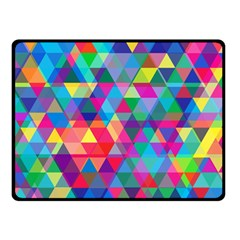 Colorful Abstract Triangle Shapes Background Double Sided Fleece Blanket (small)  by TastefulDesigns