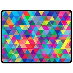 Colorful Abstract Triangle Shapes Background Double Sided Fleece Blanket (large)  by TastefulDesigns