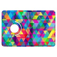 Colorful Abstract Triangle Shapes Background Kindle Fire Hdx Flip 360 Case by TastefulDesigns