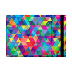 Colorful Abstract Triangle Shapes Background Ipad Mini 2 Flip Cases by TastefulDesigns