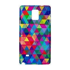 Colorful Abstract Triangle Shapes Background Samsung Galaxy Note 4 Hardshell Case by TastefulDesigns