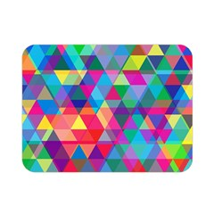 Colorful Abstract Triangle Shapes Background Double Sided Flano Blanket (mini)  by TastefulDesigns