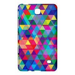 Colorful Abstract Triangle Shapes Background Samsung Galaxy Tab 4 (8 ) Hardshell Case  by TastefulDesigns