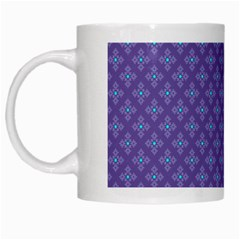 Abstract Purple Pattern Background White Mugs by TastefulDesigns