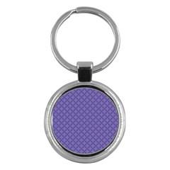 Abstract Purple Pattern Background Key Chains (round)  by TastefulDesigns