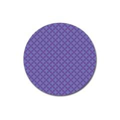 Abstract Purple Pattern Background Magnet 3  (round) by TastefulDesigns