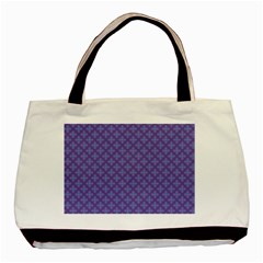 Abstract Purple Pattern Background Basic Tote Bag by TastefulDesigns