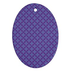 Abstract Purple Pattern Background Oval Ornament (two Sides) by TastefulDesigns