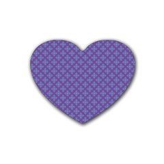 Abstract Purple Pattern Background Rubber Coaster (heart)
