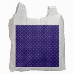 Abstract Purple Pattern Background Recycle Bag (one Side) by TastefulDesigns