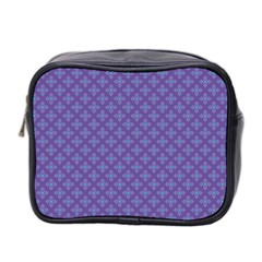 Abstract Purple Pattern Background Mini Toiletries Bag 2 Side by TastefulDesigns