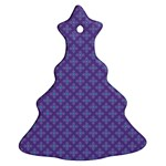 Abstract Purple Pattern Background Ornament (Christmas Tree)  Front