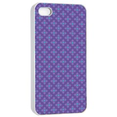 Abstract Purple Pattern Background Apple Iphone 4/4s Seamless Case (white) by TastefulDesigns
