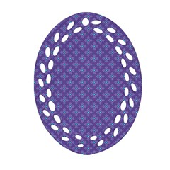 Abstract Purple Pattern Background Oval Filigree Ornament (two Sides) by TastefulDesigns