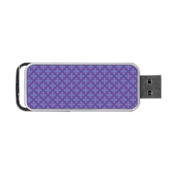 Abstract Purple Pattern Background Portable Usb Flash (two Sides) by TastefulDesigns