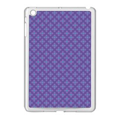Abstract Purple Pattern Background Apple Ipad Mini Case (white) by TastefulDesigns