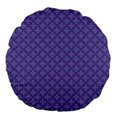 Abstract Purple Pattern Background Large 18  Premium Round Cushions by TastefulDesigns