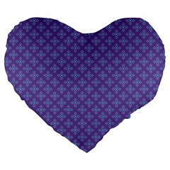 Abstract Purple Pattern Background Large 19  Premium Heart Shape Cushions by TastefulDesigns