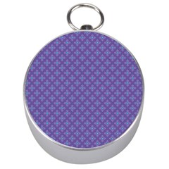 Abstract Purple Pattern Background Silver Compasses by TastefulDesigns