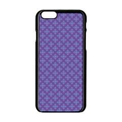 Abstract Purple Pattern Background Apple Iphone 6/6s Black Enamel Case by TastefulDesigns