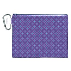 Abstract Purple Pattern Background Canvas Cosmetic Bag (xxl) by TastefulDesigns