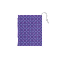 Abstract Purple Pattern Background Drawstring Pouches (xs)  by TastefulDesigns