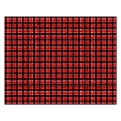 Red Plaid Rectangular Jigsaw Puzzl by PhotoNOLA
