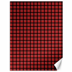 Red Plaid Canvas 36  X 48   by PhotoNOLA