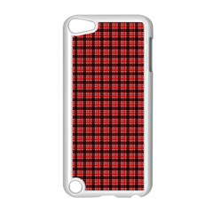 Red Plaid Apple Ipod Touch 5 Case (white) by PhotoNOLA