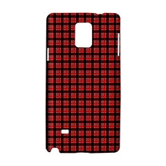 Red Plaid Samsung Galaxy Note 4 Hardshell Case by PhotoNOLA