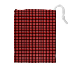 Red Plaid Drawstring Pouches (extra Large) by PhotoNOLA