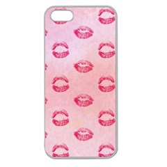 Watercolor Kisses Patterns Apple Seamless Iphone 5 Case (clear)