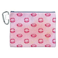 Watercolor Kisses Patterns Canvas Cosmetic Bag (xxl) by TastefulDesigns