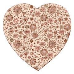 Retro Sketchy Floral Patterns Jigsaw Puzzle (heart) by TastefulDesigns