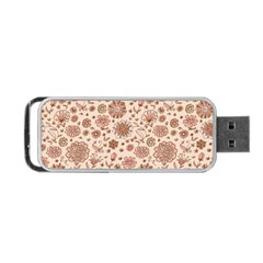 Retro Sketchy Floral Patterns Portable Usb Flash (two Sides) by TastefulDesigns