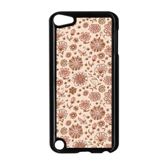 Retro Sketchy Floral Patterns Apple Ipod Touch 5 Case (black) by TastefulDesigns