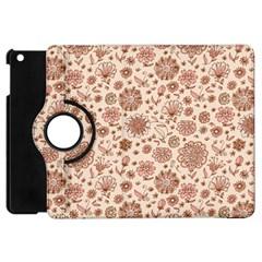 Retro Sketchy Floral Patterns Apple Ipad Mini Flip 360 Case by TastefulDesigns