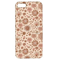 Retro Sketchy Floral Patterns Apple Iphone 5 Hardshell Case With Stand