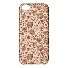 Retro Sketchy Floral Patterns Apple Iphone 5c Hardshell Case by TastefulDesigns