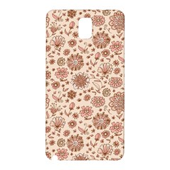 Retro Sketchy Floral Patterns Samsung Galaxy Note 3 N9005 Hardshell Back Case by TastefulDesigns